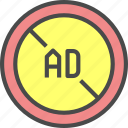 ad, advertisement, advertising, block, marketing icon