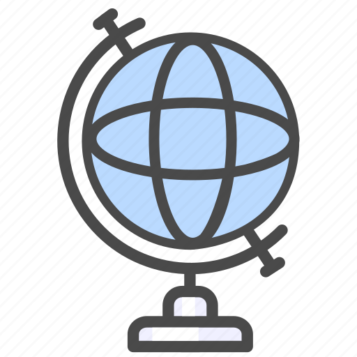 education, geography, globe, knowledge, science, university icon