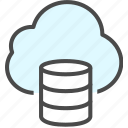 backup, cloud, data, database icon