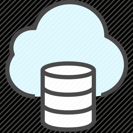 backup, cloud, data, database icon
