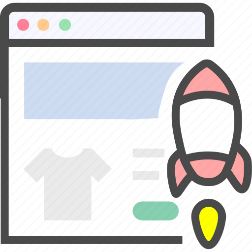 optimization, rocket, seo, speed, web, website icon