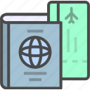 identification, identity, passport, ticket icon