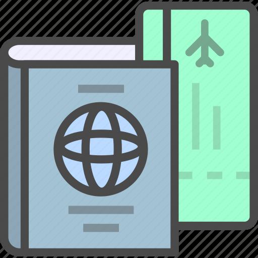 identification, identity, passport, ticket icon