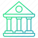 bank, banking, building, construction icon