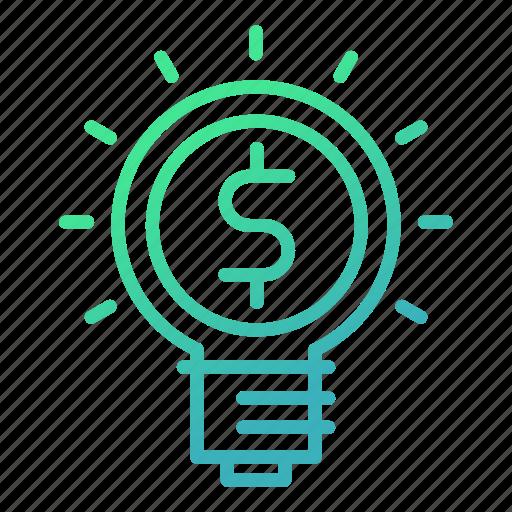 bulb, business, idea, innovation, light, marketing icon