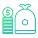 business, capital, cash, currency, money icon
