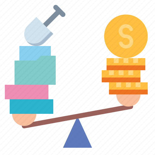 balance, justice, law, profit, scale icon