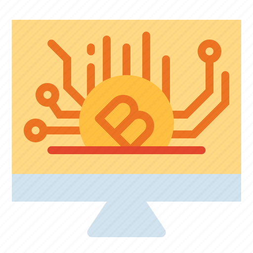 bitcoins, currency, investment, money, networking icon