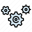 configuration, gears, interface, setting, wheels icon