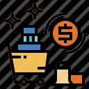 cart, marketing, money, shopping icon