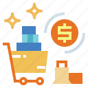 cart, marketing, money, shopping icon