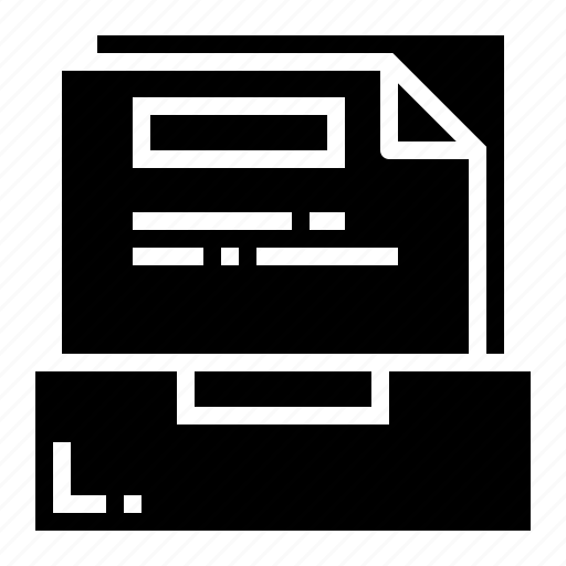 document, file, folder, report icon