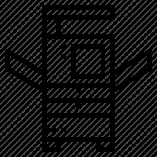 paper, printer, sheet, technology icon