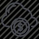 cloud, cloud icon, coin icon