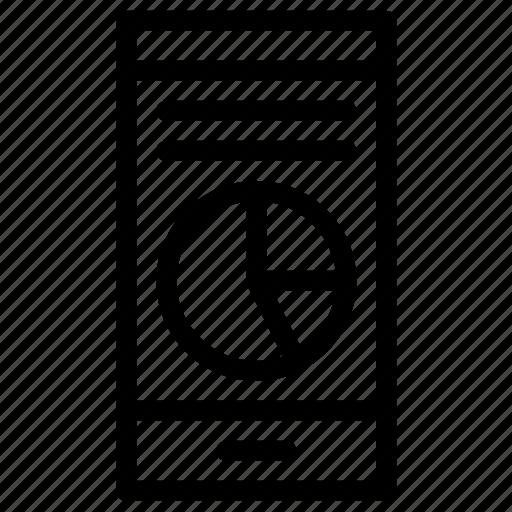 business, graph, mobile icon