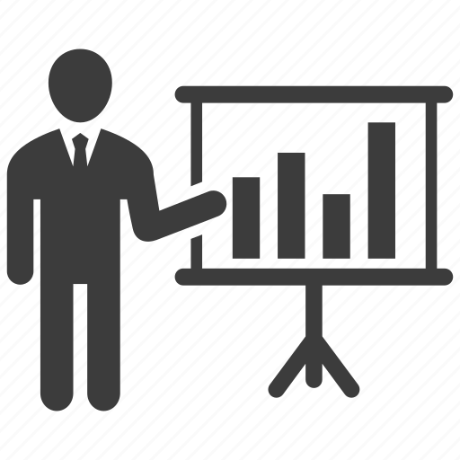 business, graph, presentation icon