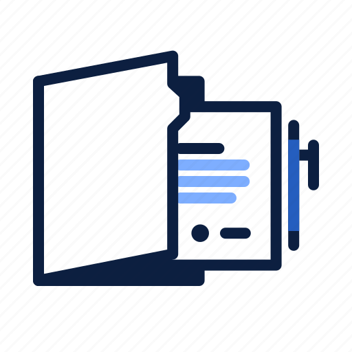 business, contracts, documents, files, pen icon