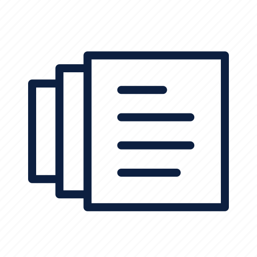 business, contracts, documents, files, lines icon