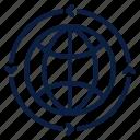 business, globalisation, globalization, globe, lines, world icon