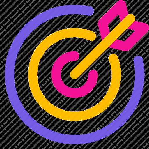 arrow, dart, goal, target icon