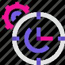 clock, cogwheel, process, time