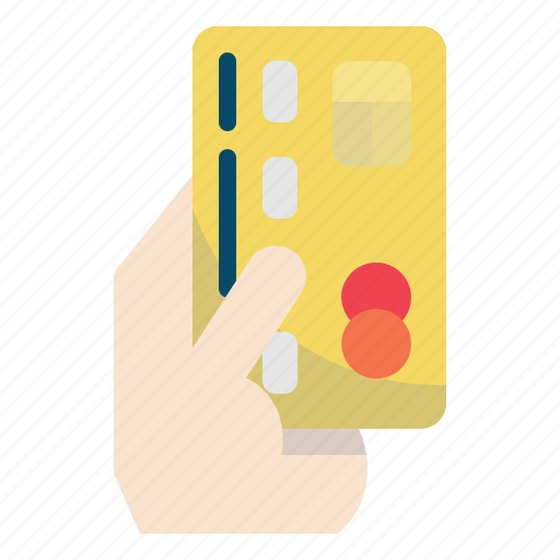 Card, credit, hand, pay, payment icon - Download on Iconfinder