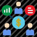 bussiness, chart, marketing, presentation, team icon