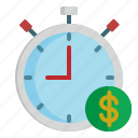 bussiness, clock, stopwatch, time, timing icon