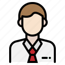 business, employee, man, office, person icon