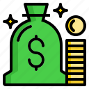 bag, cash, coin, dollar, money icon