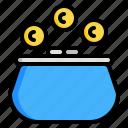 cash, coin, money, purse, wallet icon