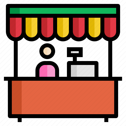 cashier, fair, market, shop, store icon