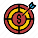 arrow, bussiness, focus, goal, target icon