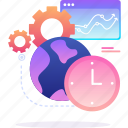 business, clock, service, world