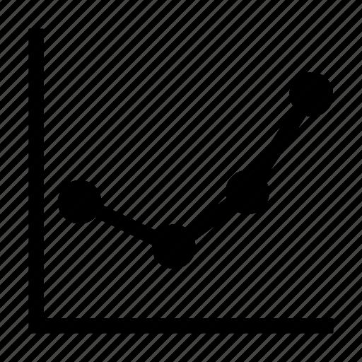 analytics, business, chart, diagram, finance, graph, line chart icon