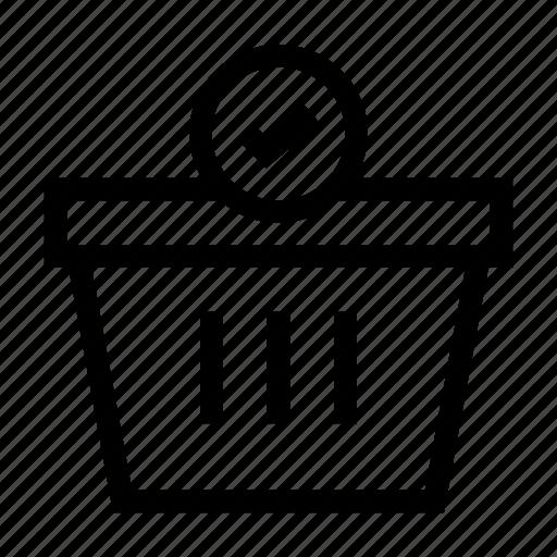 Basket, business, cart, done, finance, payment, shop icon - Download on Iconfinder