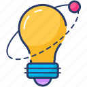 bulb, creative, idea, light, service icon, solution icon