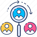 people, human, search icon, resources, find, specialist, vacancy icon
