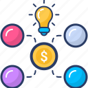 big idea icon, business idea, crowd, finance, financial, funding icon
