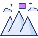 achievement, flag, goal, mission, point, success, success icon icon