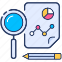 analysis, analytics, chart, data, market, research icon icon