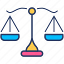 balance, justice, law, scale, weight icon icon