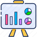 chart, presentation, reports, sales, statistics icon icon