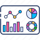 analysis, data, file, growth, market, report, stock icon