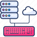 backup, cloud, database, hosting icon, massive, servers, sync icon