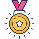 achievement, medal, success, winning icon icon