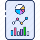 data analytics, data visualization, location analysis, predictive analytics icon icon