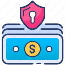 currency, insurance, money, protect, security icon icon