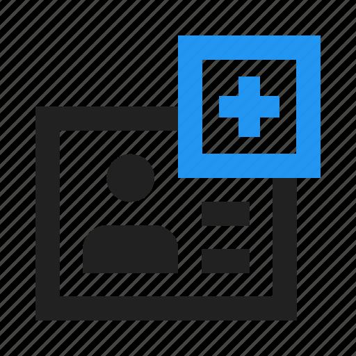 add, create, document, dossier, file, plus, profile icon