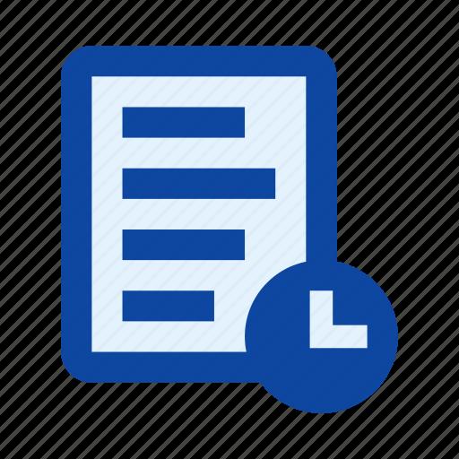 check list, clock, deadline, document, schedule, tasks, time icon